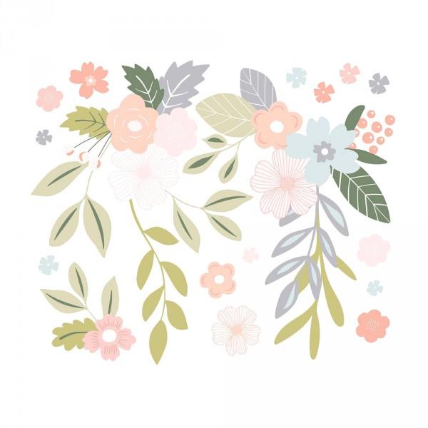 Lilipinso Wandsticker XL Blütenranken rosa pastell
