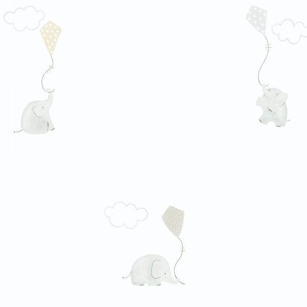 Casadeco My Little World Tapete Elefanten braun grau
