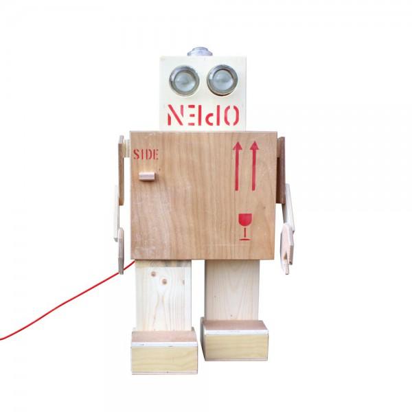 Rijkswachters Nachtschränkchen Roboter mit Lampe large