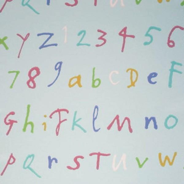 Osborne & Little Tapete Buchstaben aqua