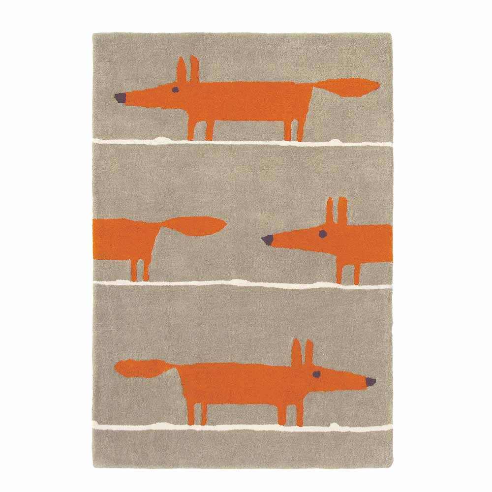 Scion Teppich Wolle Mr Fox Zimt Bei Kinder Raume