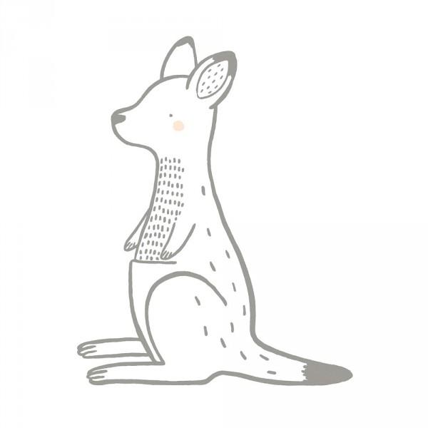 Lilipinso Wandsticker XL Känguru grau