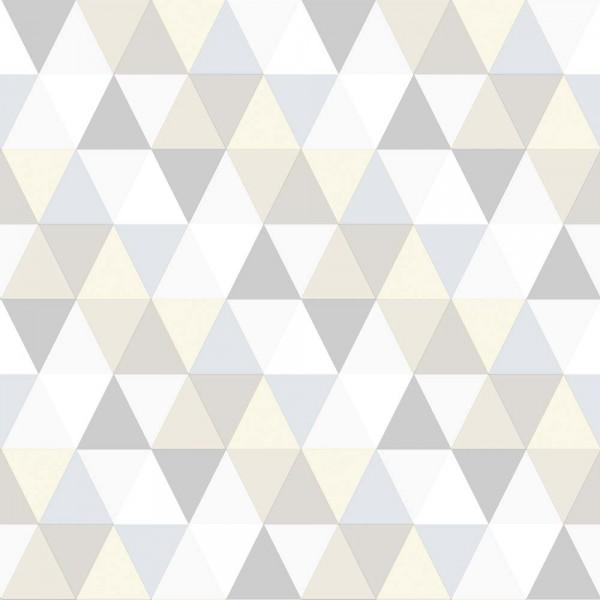 Rasch Textil Everybody Bonjour Tapete Dreiecke grau silber