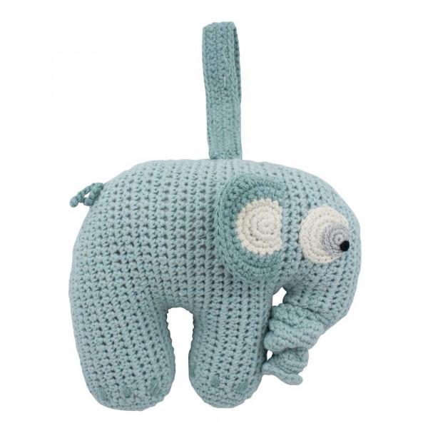 Sebra Häkel Spieluhr Elefant Fanto puderblau