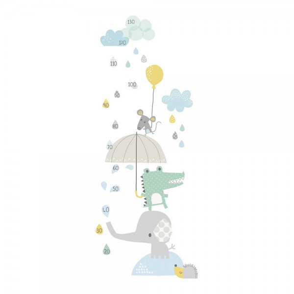 Lilipinso Messlatte selbstklebend Tiere im Regen