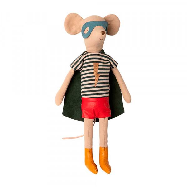 Maileg Stofftier Maus Superheld mittel