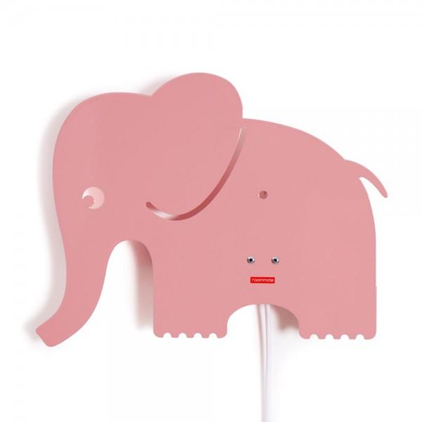 Roommate Wandlampe Elefant Metall rosa