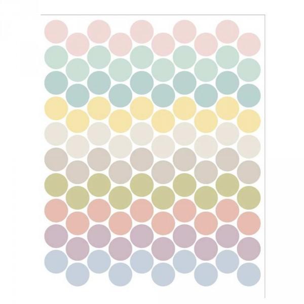 tresxics Wandsticker Punkte pastell