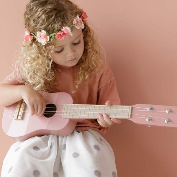 Little Dutch Kinder Gitarre rosa