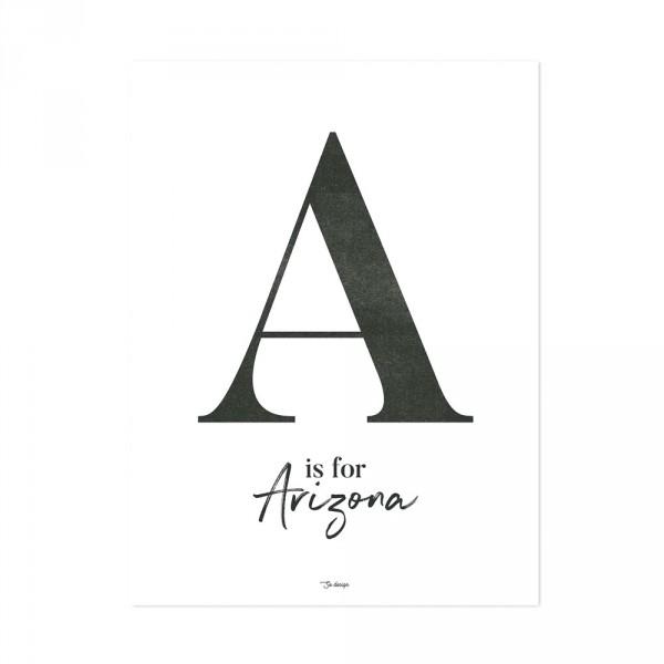 Lilipinso Poster A is for Arizona schwarz auf weiss