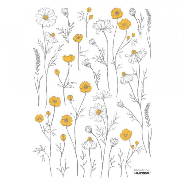 Lilipinso Wandsticker A3 Kamille & Butterblume klein