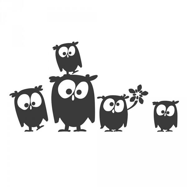 cats on appletrees Wandsticker Eulen Lotta, Mathilda & Co