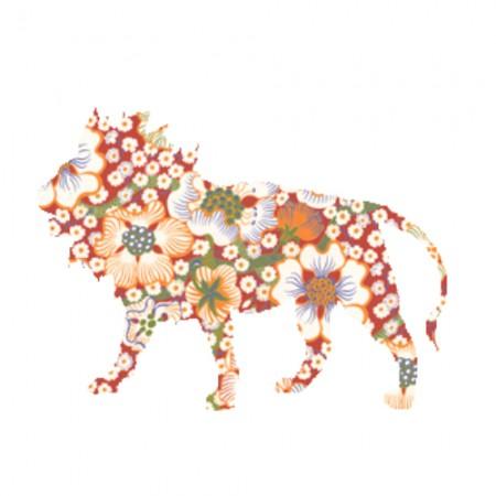 Inke Tapetentier Löwe Exotic rot