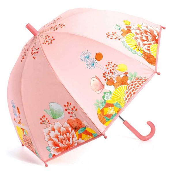 Djeco Kinder Regenschirm Blumengarten rosa