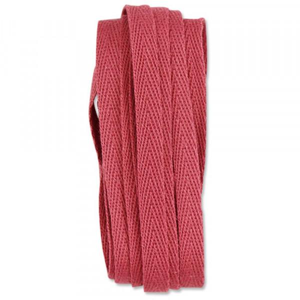 Ava & Yves Geschenkband Baumwolle dunkel rosa