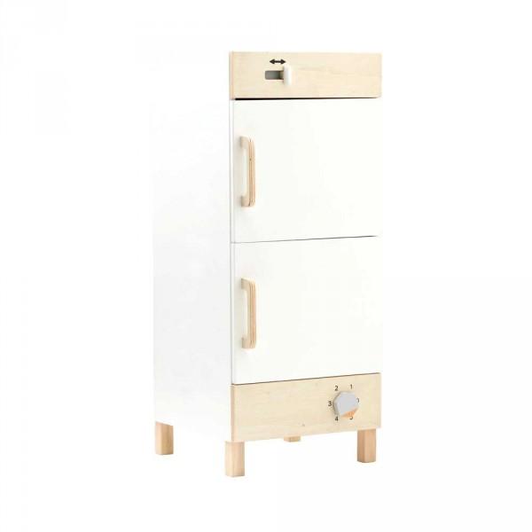 Kids Concept Kühlschrank Holz weiss mit natur