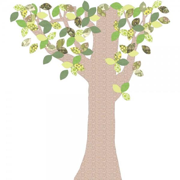 Inke Tapetenbaum Reliefstamm grün