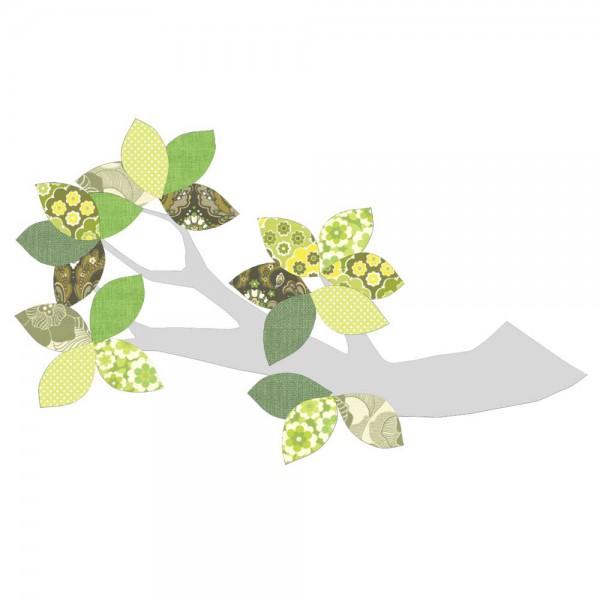 Inke Tapetenast silber grün
