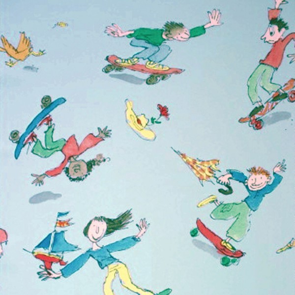 Osborne & Little Tapete Skater blau