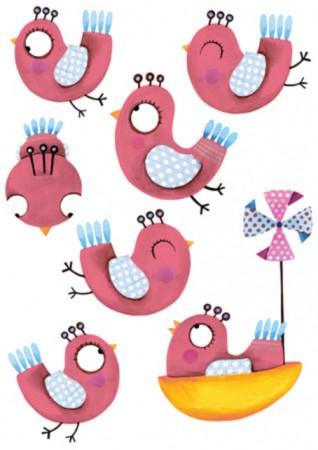 Lilipinso Wandtattoo 7 Vögelchen