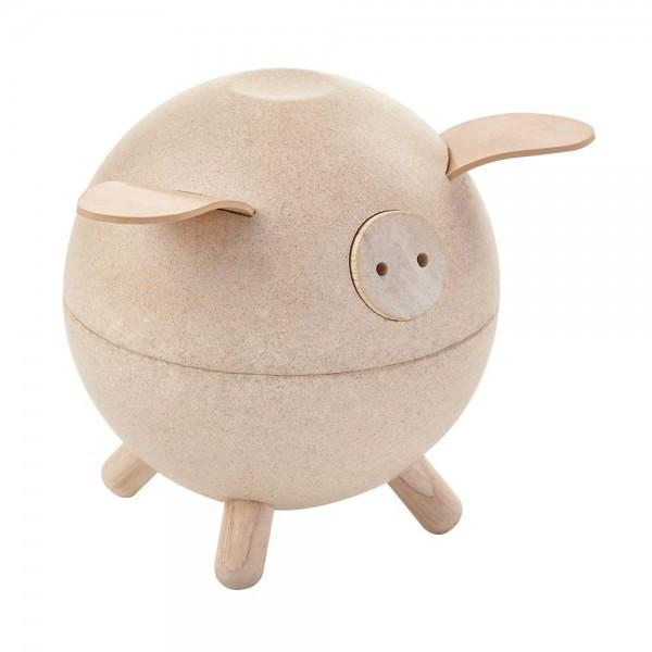 Plan Toys Sparschwein Holz natur
