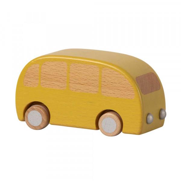 Maileg Holz Spielzeugauto Bus gelb