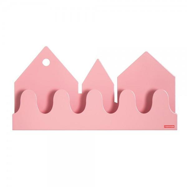 Roommate Wandregal / Garderobe Village Metall rosa