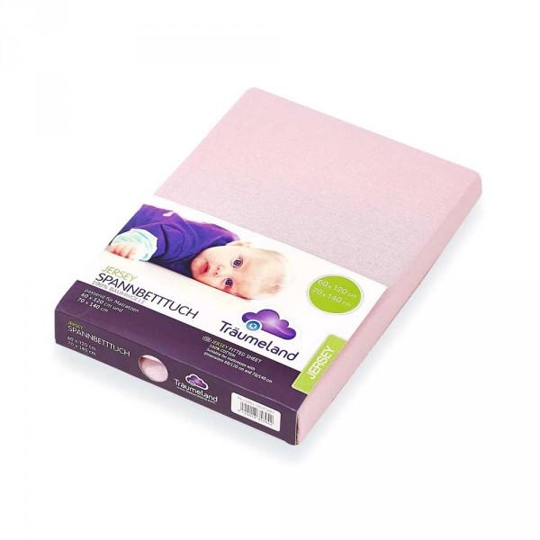 Träumeland Spannbettlaken Babybett Jersey rosa