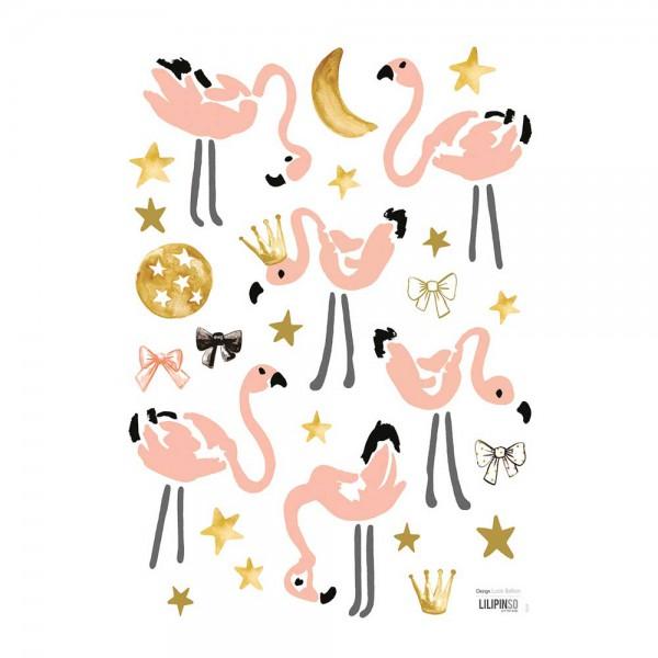 Lilipinso Wandsticker A3 Flamingos
