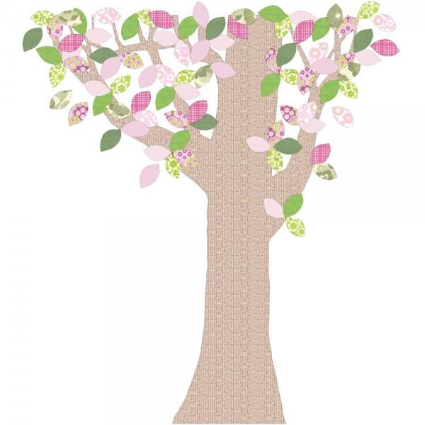 Inke Tapetenbaum Reliefstamm grün/rosa