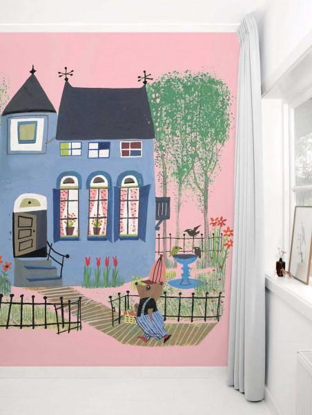 Kek Amsterdam Tapeten Wandbild Sommerhaus rosa