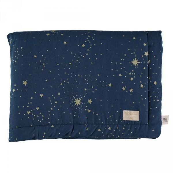 Nobodinoz Kuscheldecke Laponia goldene Sterne blau