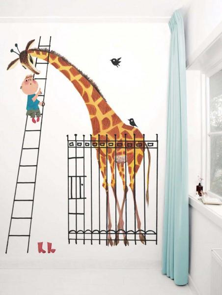 Kek Amsterdam Tapeten Wandbild Giraffe
