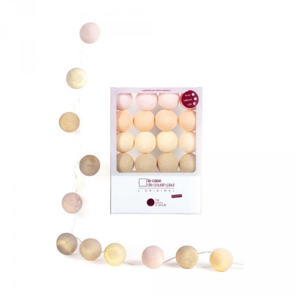 Cousin Paul Mini Lichterkette Appoline rosa creme beige