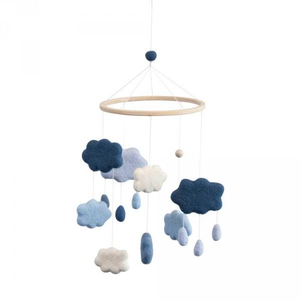 Sebra Mobile Wolken Filz königsblau