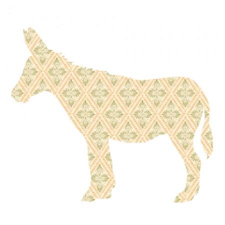 Inke Tapetentier Esel Raute beige