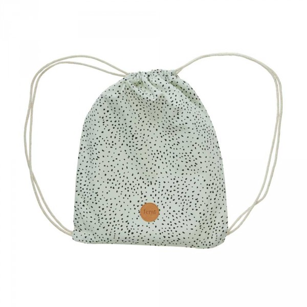 Ferm Living Rucksack Turnbeutel Mini Dot mint