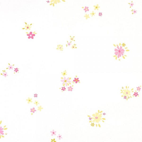 Caselio Girls only Tapete Blümchen rosa lime
