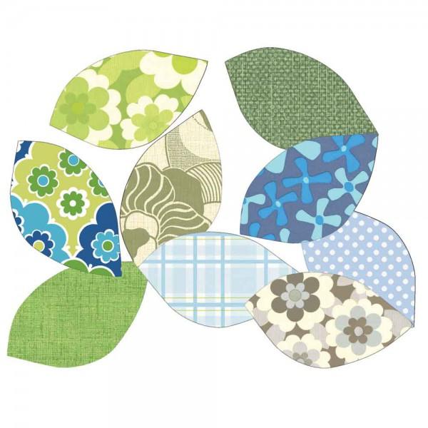 Inke Tapetenblätter grün/blau
