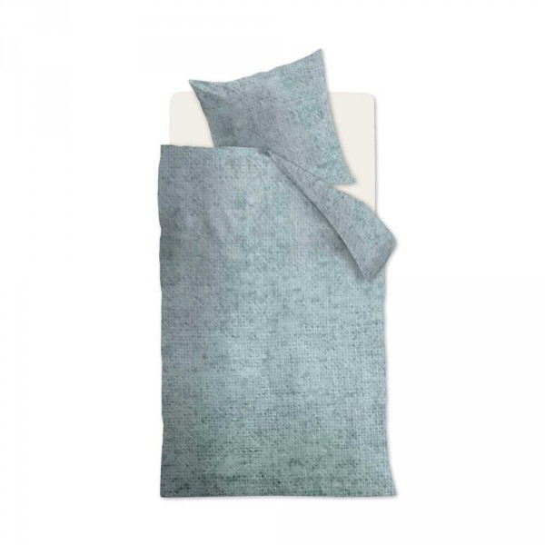 Beddinghouse Flanell Kinderbettwäsche Frost uni blau 135 x 200