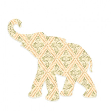 Inke Babyelefant Raute beige