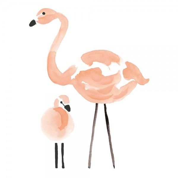 Lilipinso Wandsticker XL zwei Flamingos