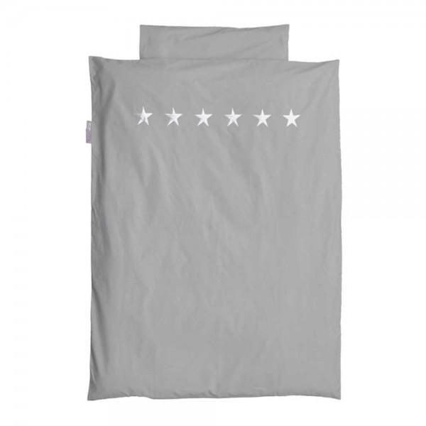 Taftan Bettwäsche 100 X 135 Grau Sterne Silber Bei Kinder Räume