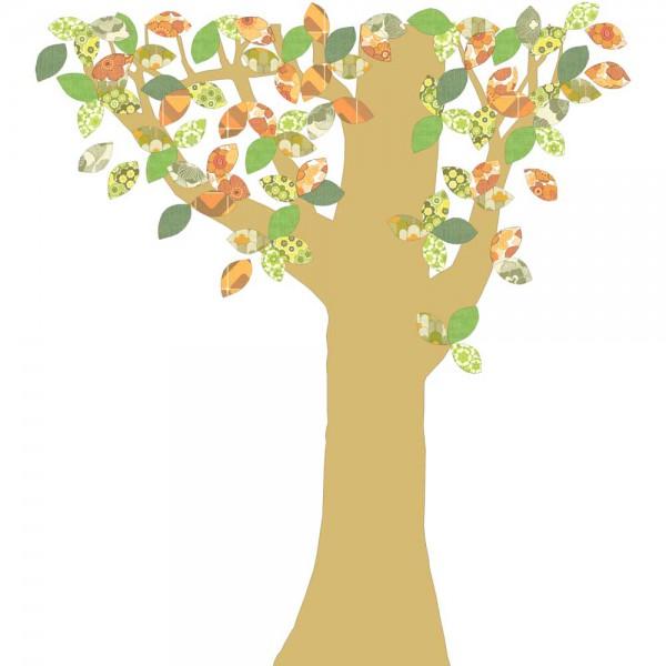 Inke Tapetenbaum Goldstamm grün/braun