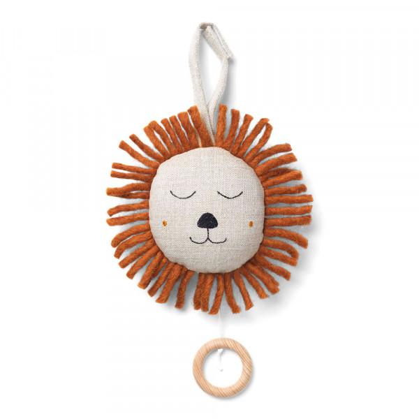 Ferm Living Baby-Spieluhr Löwe natur
