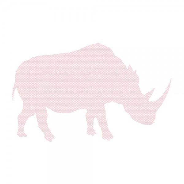 Inke Tapetentier Nashorn rosa Punkte weiss