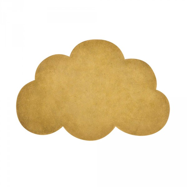 Lilipinso Teppich Wolke senfgelb
