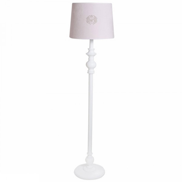 Caramella Stehlampe gedrechseltes Bein gold Emblem rosa