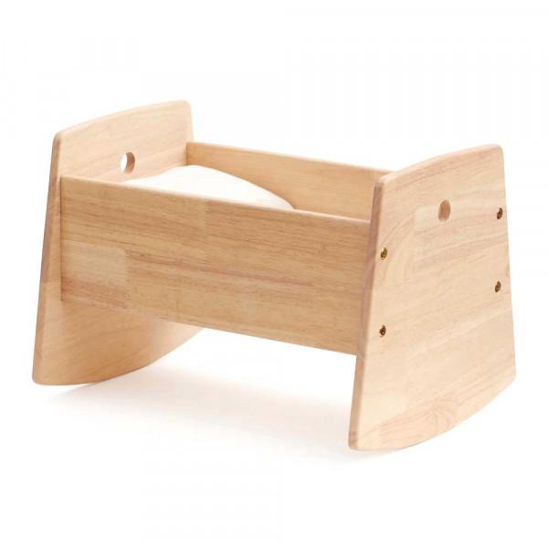 Kids Concept Spielzeug Puppenwiege mit Bettwäsche Holz natur