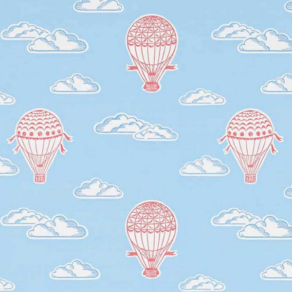 Little Sanderson Abracazoo Tapete Heissluft Ballons rot blau